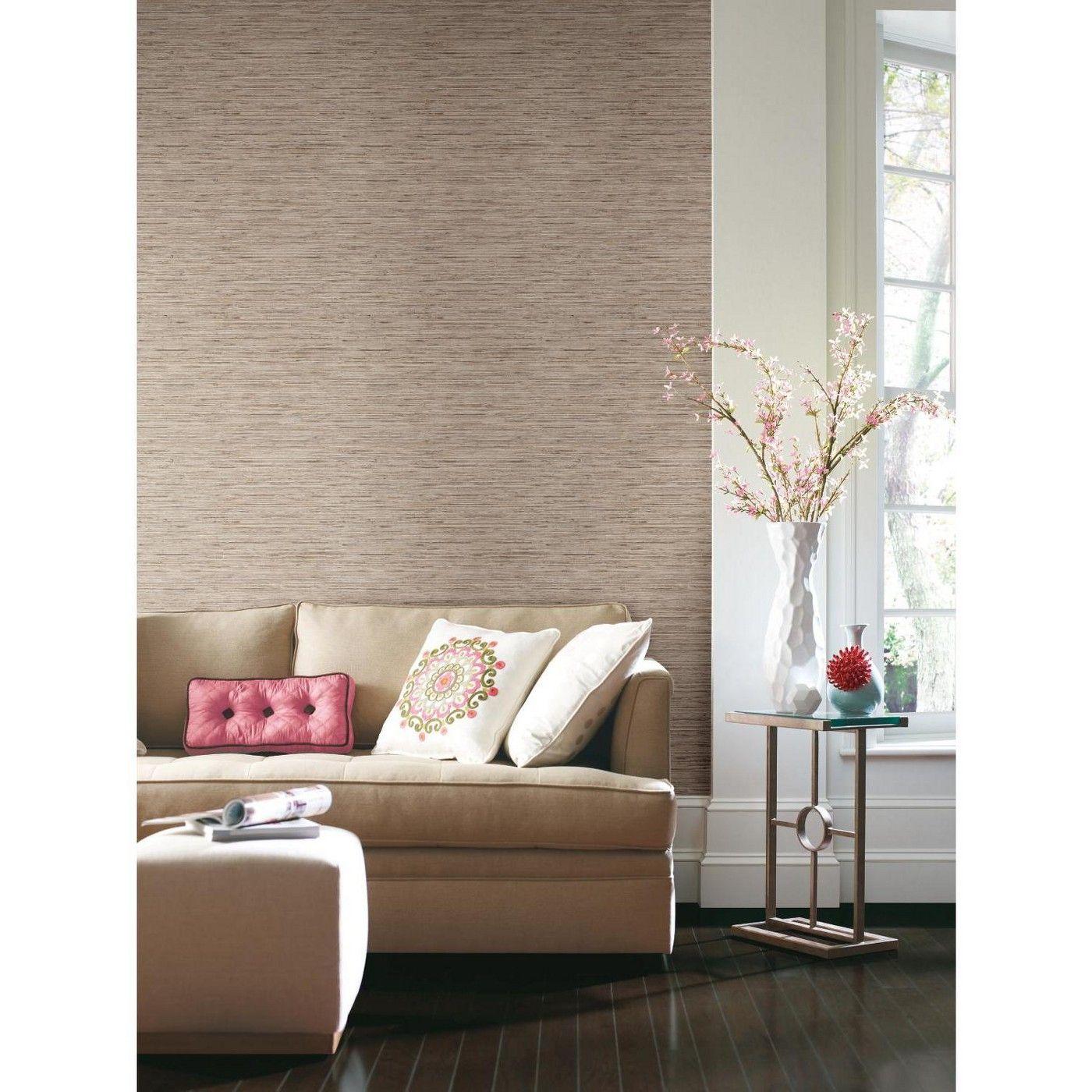 Grasscloth Peel & Stick Wallpaper RoomMates Peel