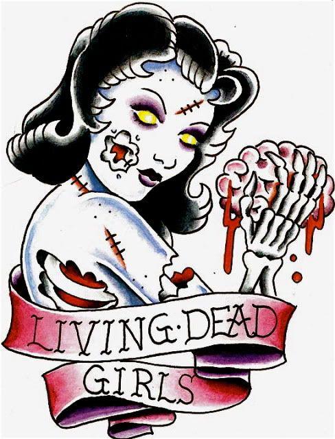 zombie/living dead girl-- Wouldn\'t get it, but it\'s still cute ...