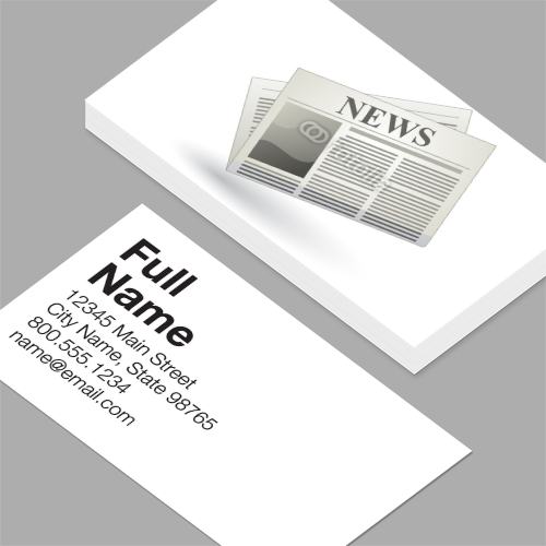 Business Cards Vector Newspaper Icon Vector Business Card Modern Business Cards Modern Business Cards Design