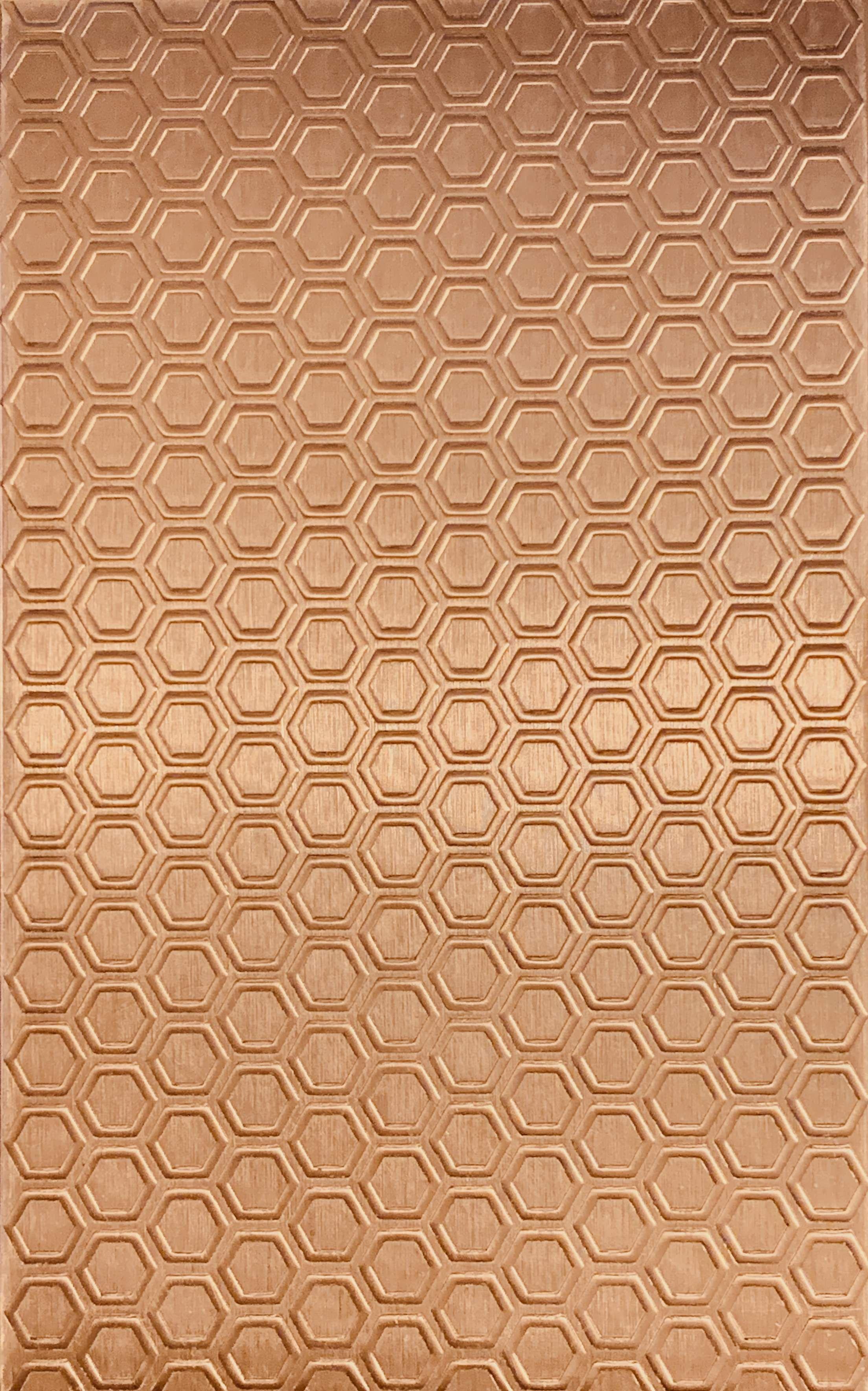 Honeycomb Copper Pattern Pressing 2 1 2 X 4 Metal Maven Focal Pieces Copper Metal