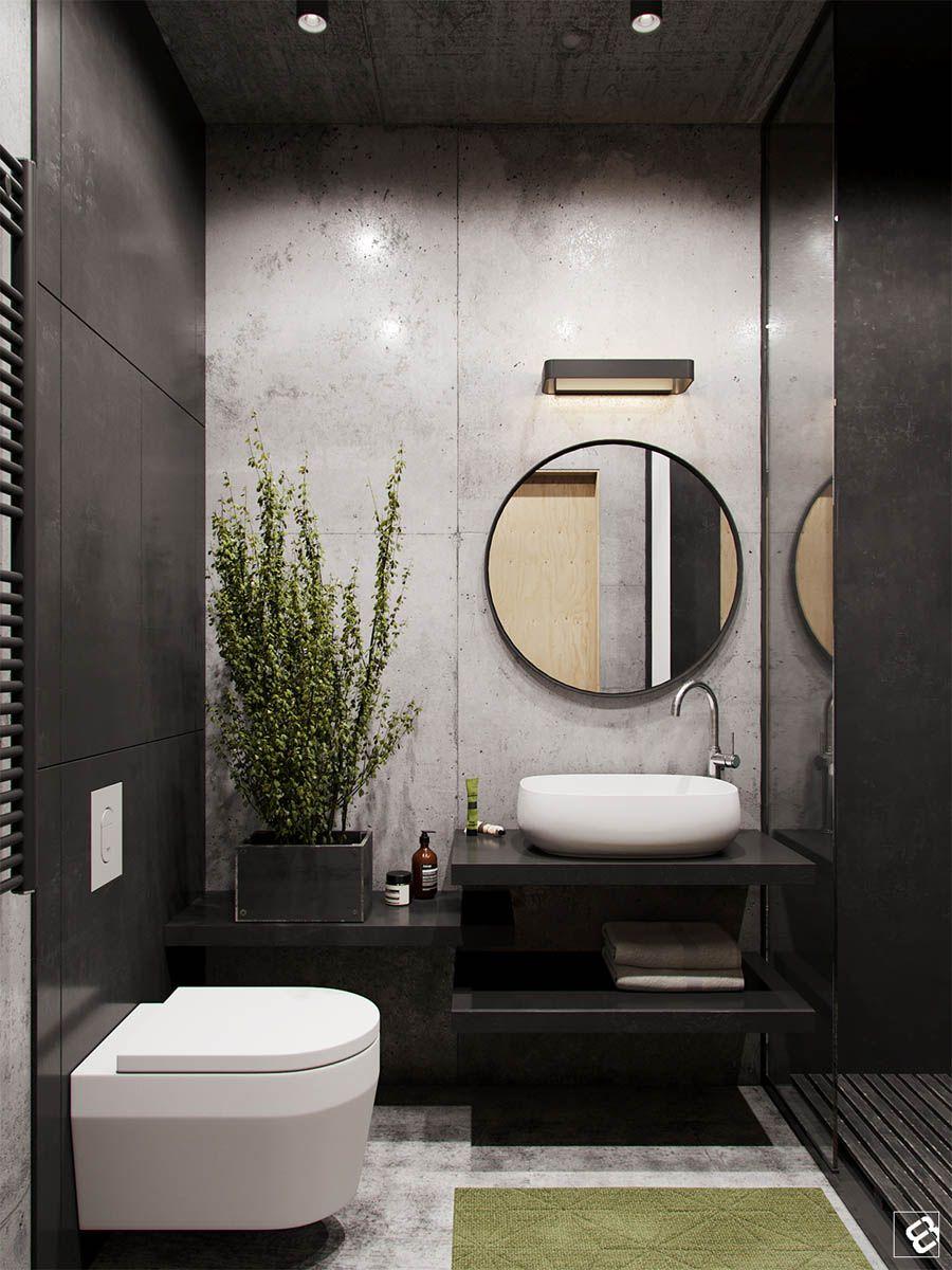 A Concrete and Wood Townhouse in Belarus  Bathroom  Bathroom Bathroom interior design