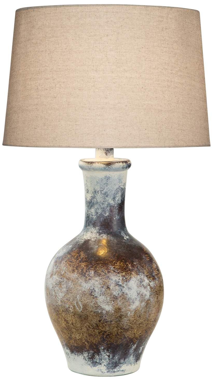 Cepeda Adobe Multi-Color Hydrocal Vase Table Lamp #tablelamp #tablelamps #tablelampideas #tablelampsforlivingroom