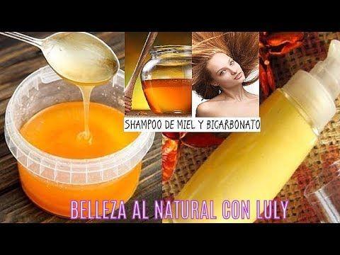 SHAMPOO CASERO DE BICARBONATO Y MIEL, anti-bacteriano y antifúngico, ...