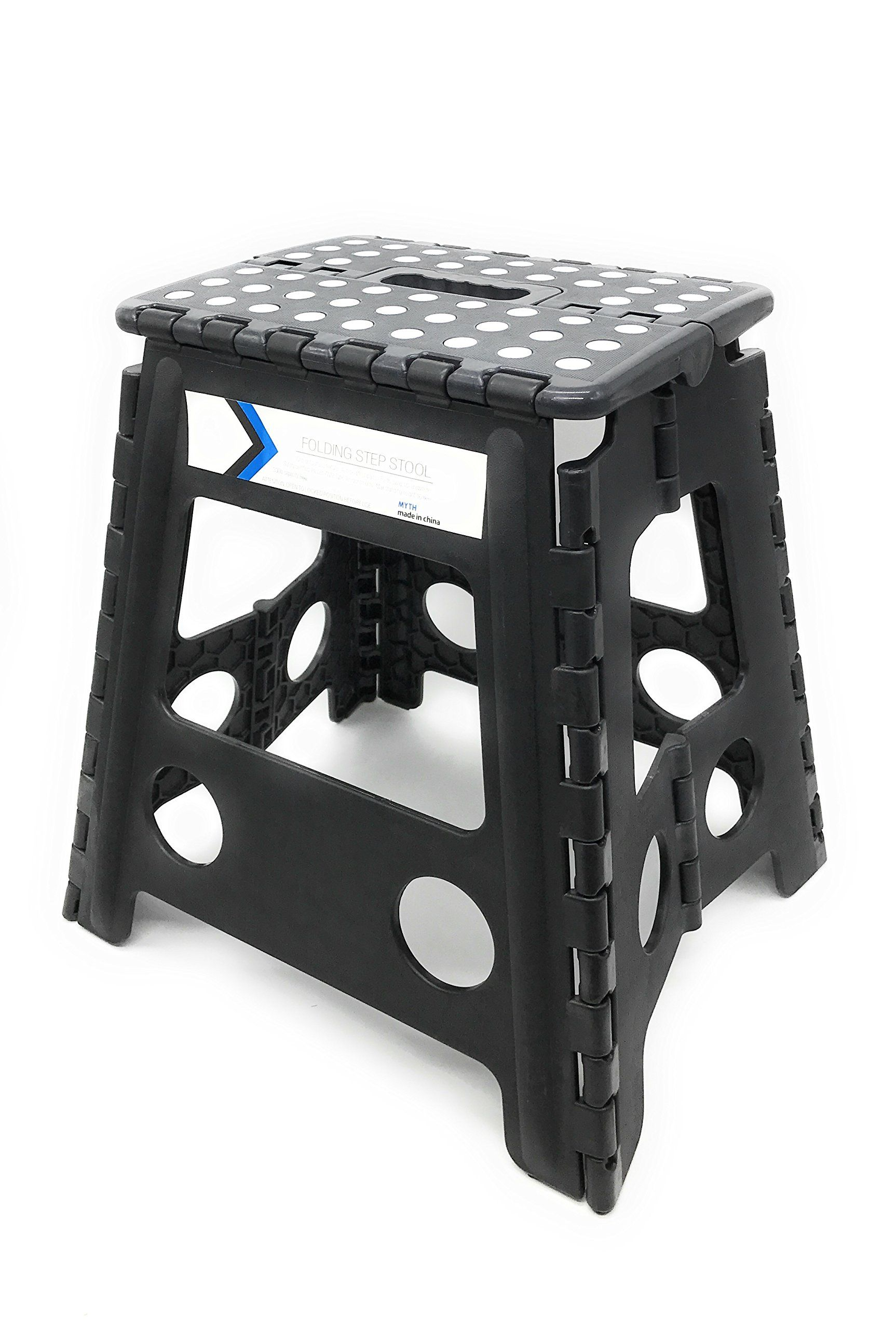 Folding Step Stool 16 Inches Height by Myth with Anti-Slip Surface ...