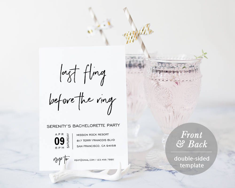 Bachelorette Party Invitation Template Printable Bachelorette