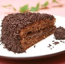 Brigadeiro (also known in some southern Brazilian states as negrinho) is a simple Brazilian chocolate bonbon made by mixing sweetened condensed milk, butter and cocoa powder. It is a very popular candy in Brazil and it is usually served at birthday parties, but can also be found at any kind of party.