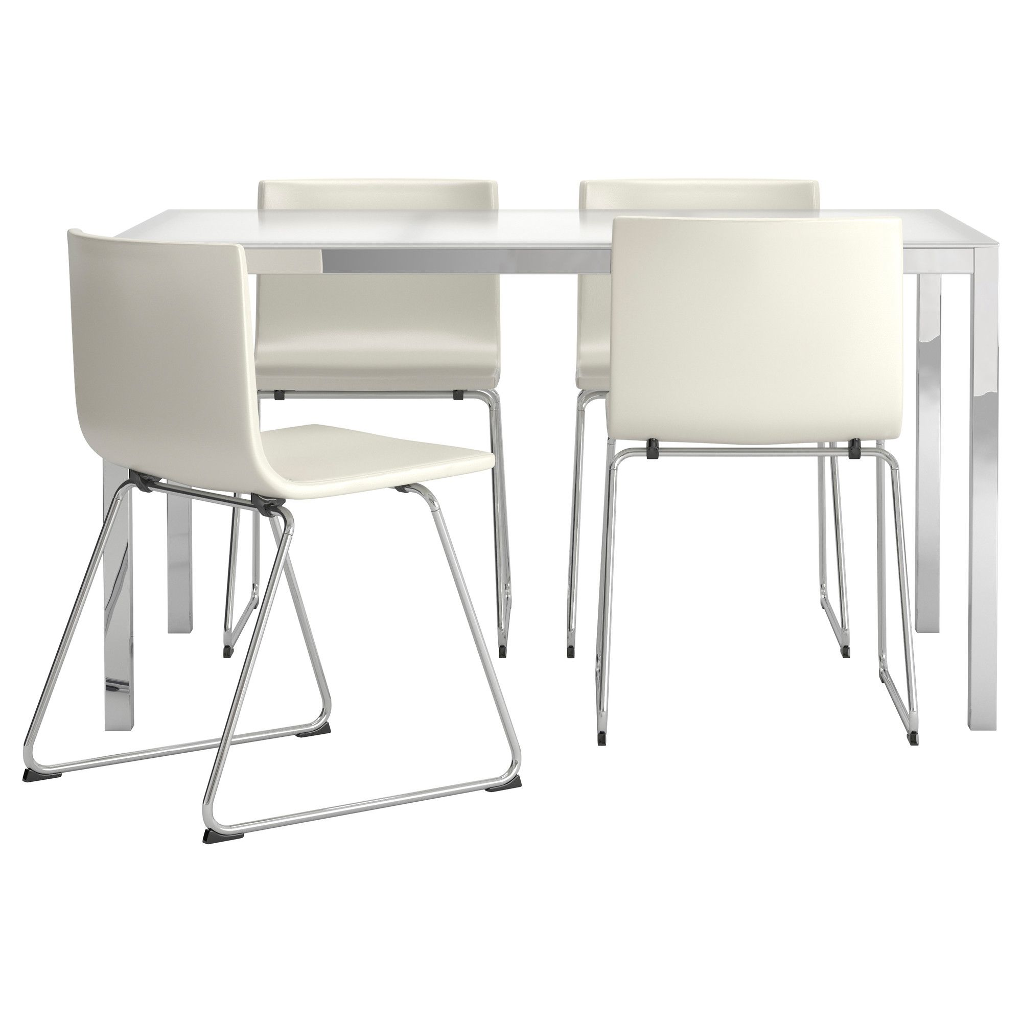 Torsby  Bernhard Table And 4 Chairs Glass White Kavat White Fascinating Ikea Dining Room Chair Design Ideas