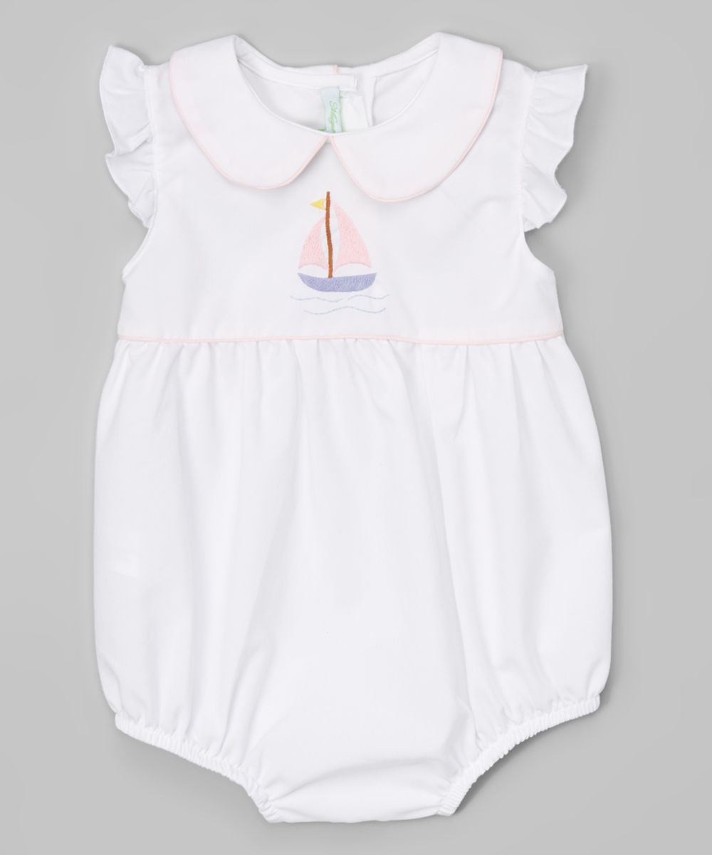 White & Pink Sailboat Bubble Bodysuit - Infant & Toddler