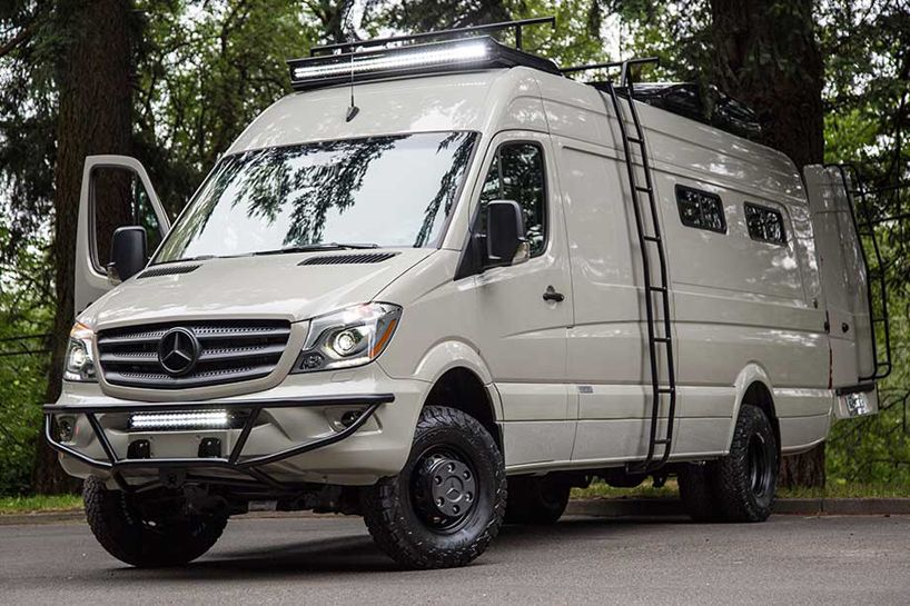 Osv valhalla 4x4 mercedes benz sprinter mobile home for Mercedes benz van conversion