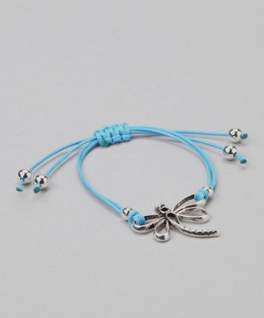Take a look at this Farfan Jewelry Turquoise Dragonfly Bracelet by Farfan Jewelry on #zulily today!