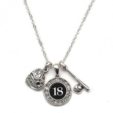 Player Number Baseball or Softball Necklace