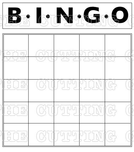Blank Bingo Grids To Print  The Huge Bingo Card Also Comes With A