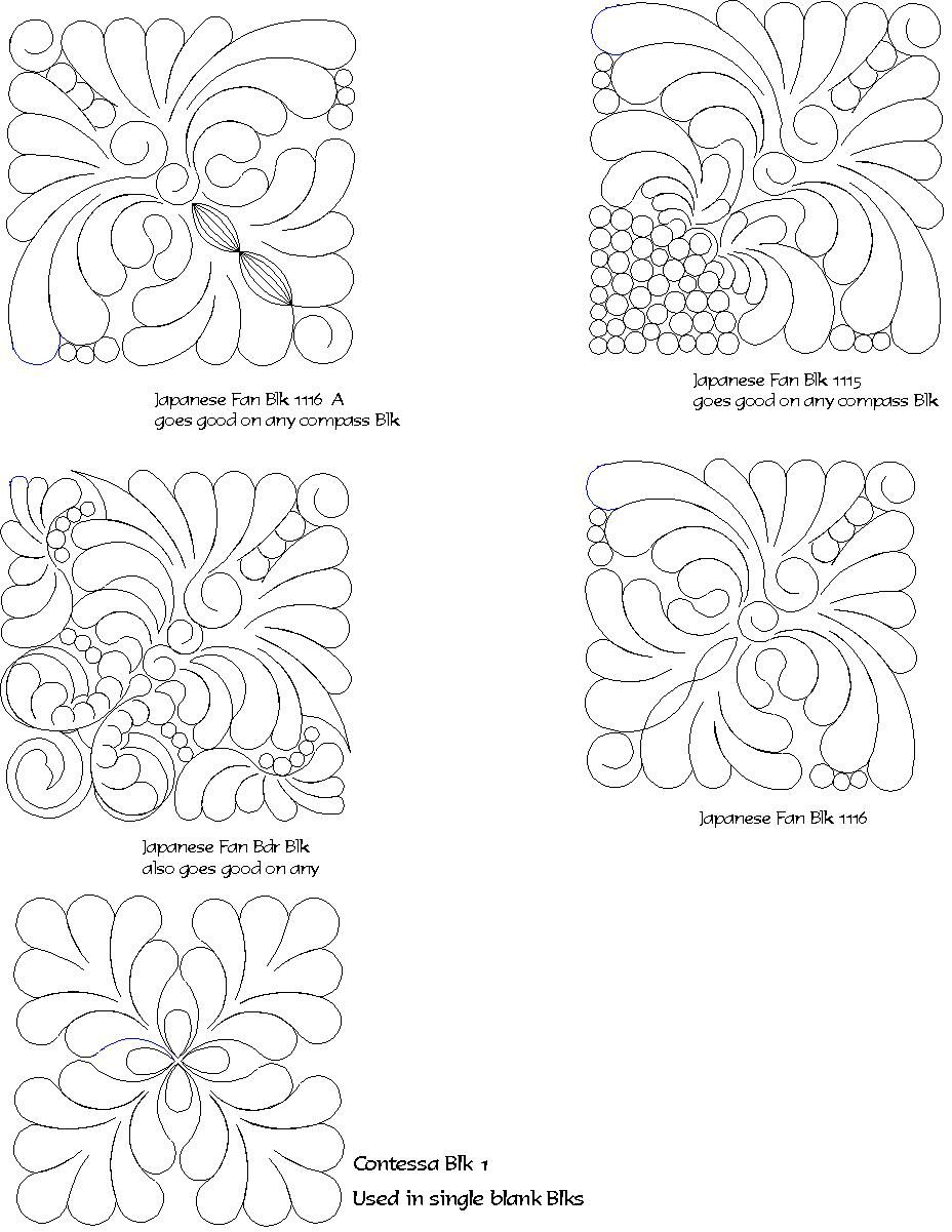 computerized digitized quilting patterns for Judy Neimeyer