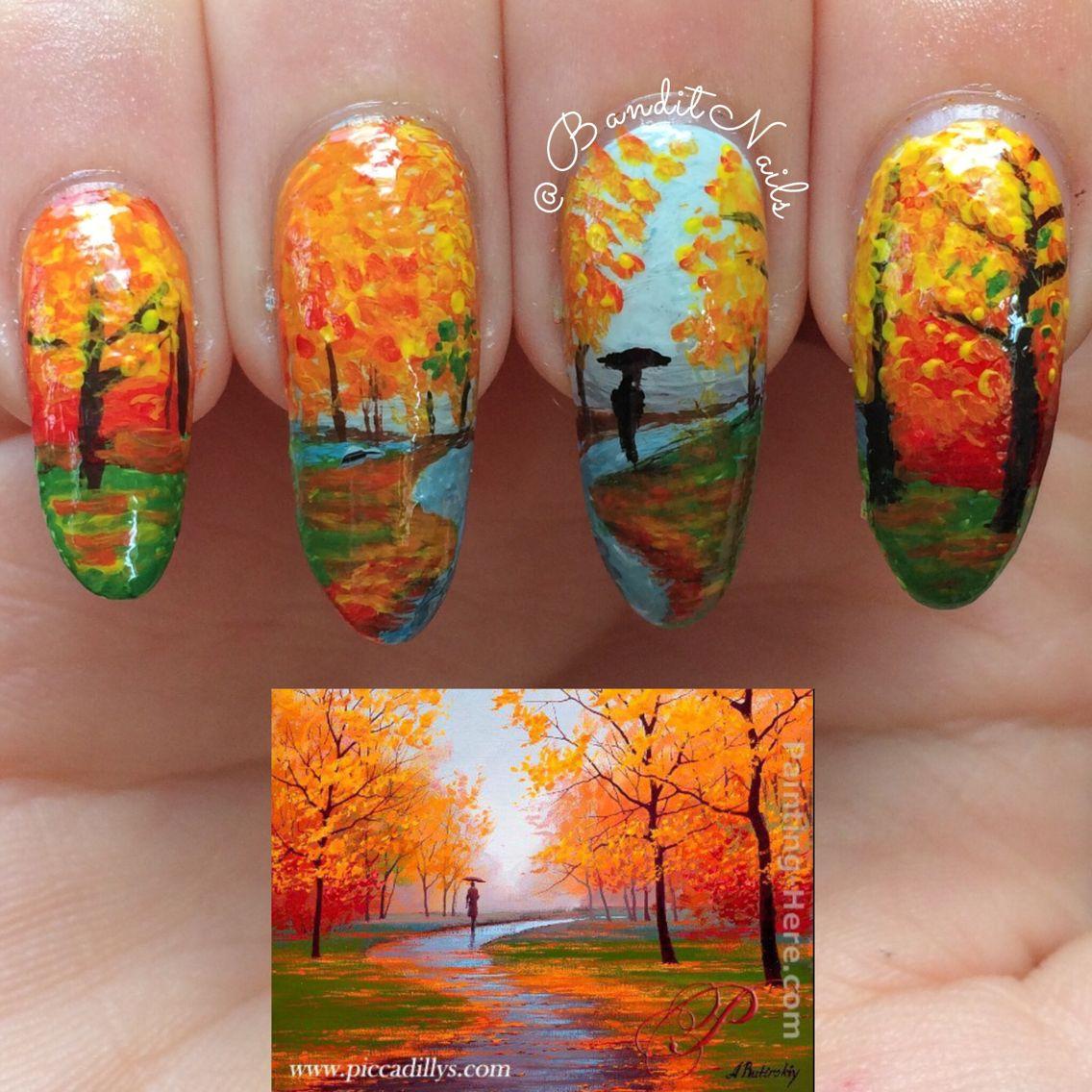 пейзажи на ногтях пошагово фото остальным мочить предплечье