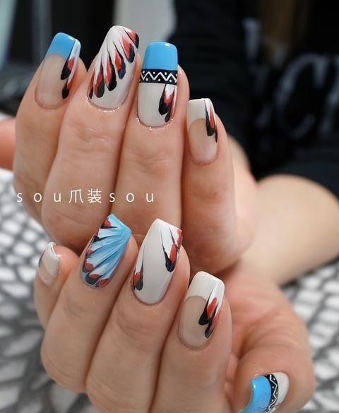 Native American Nail Art - Native American Nail Art Designs Acrylic Nails With Native
