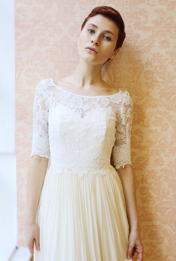 Lace Wedding Top Separate Heloise By Leanimal On Etsy