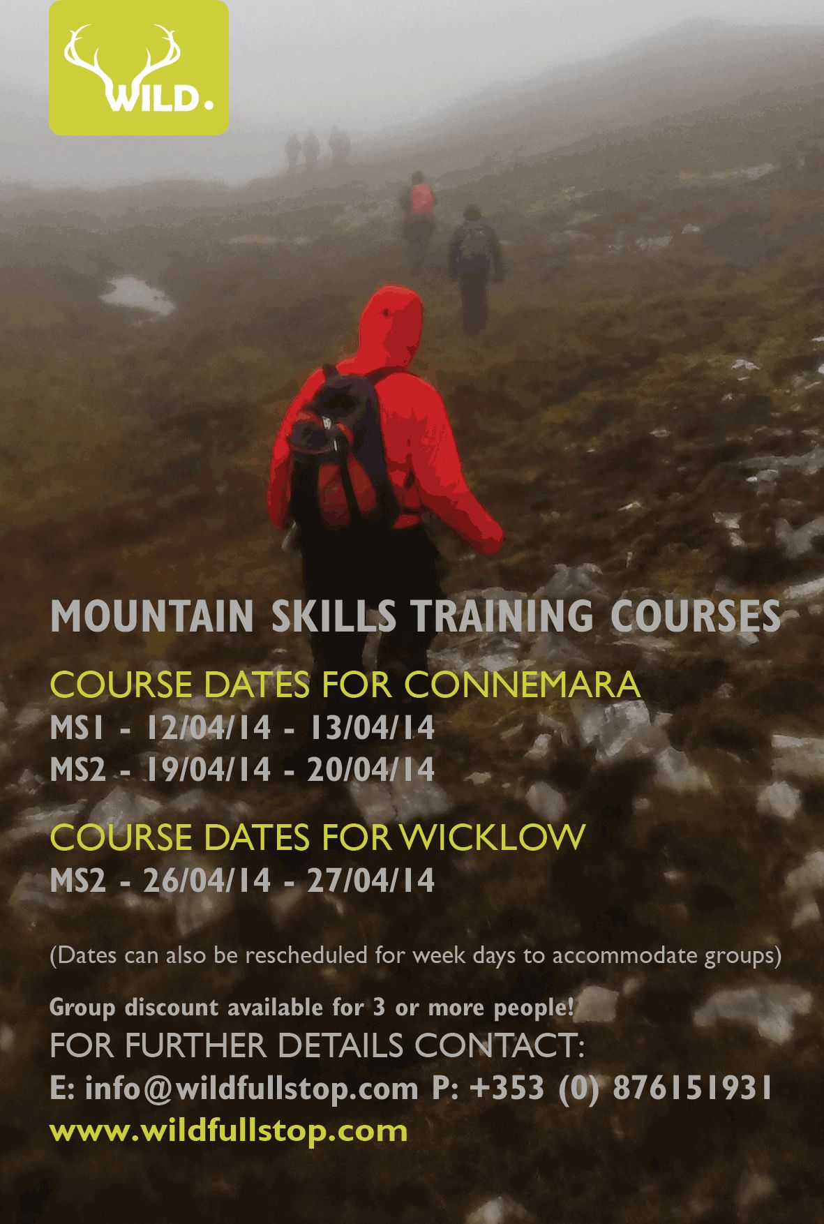 Mountain Skills Training Courses in Connemara & Wicklow with wildfullstop