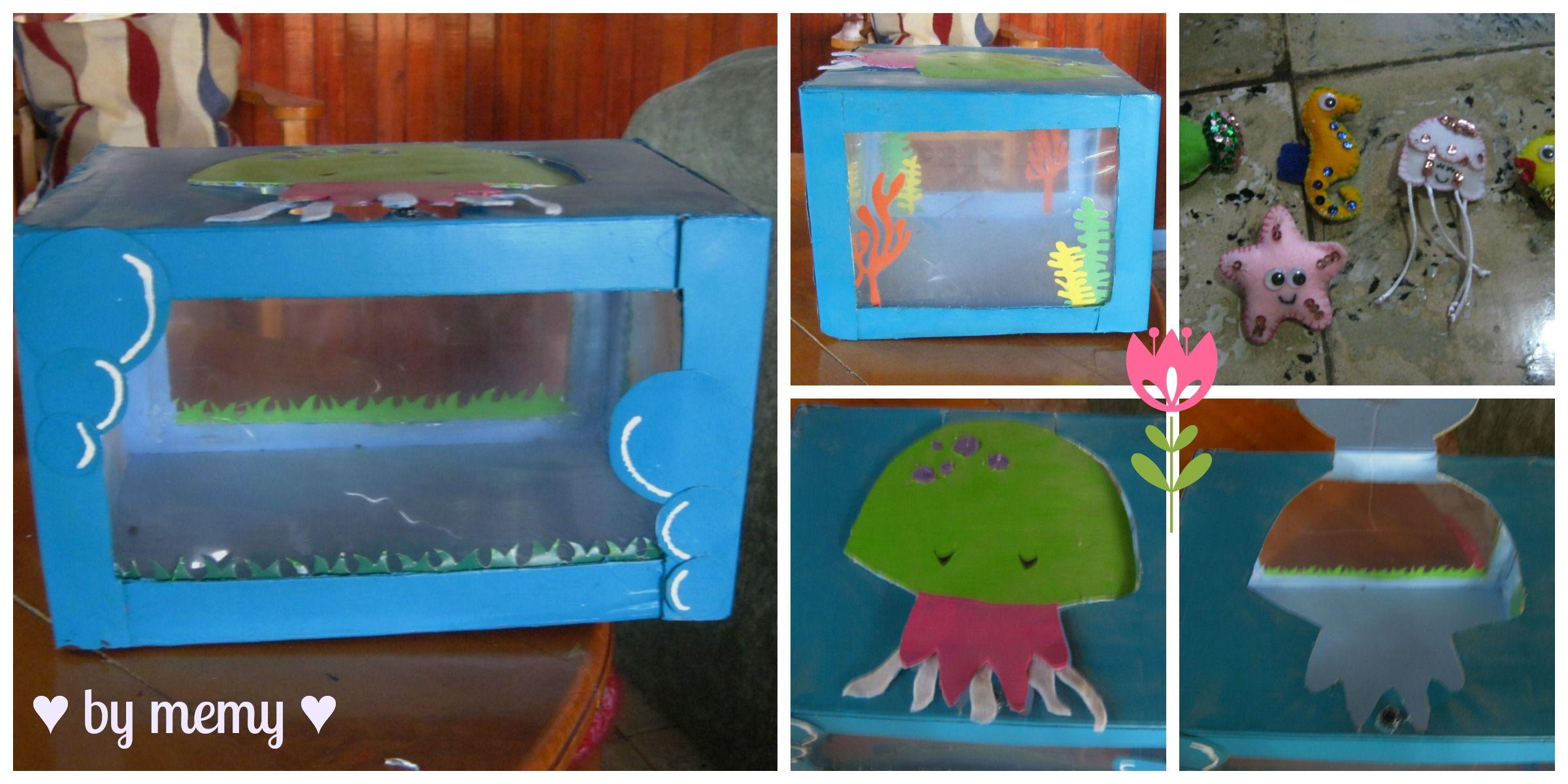 Pecera Hecha Con Material Reciclable Manualidades Para Niños Pequeños Manualidades Infantiles Manualidades