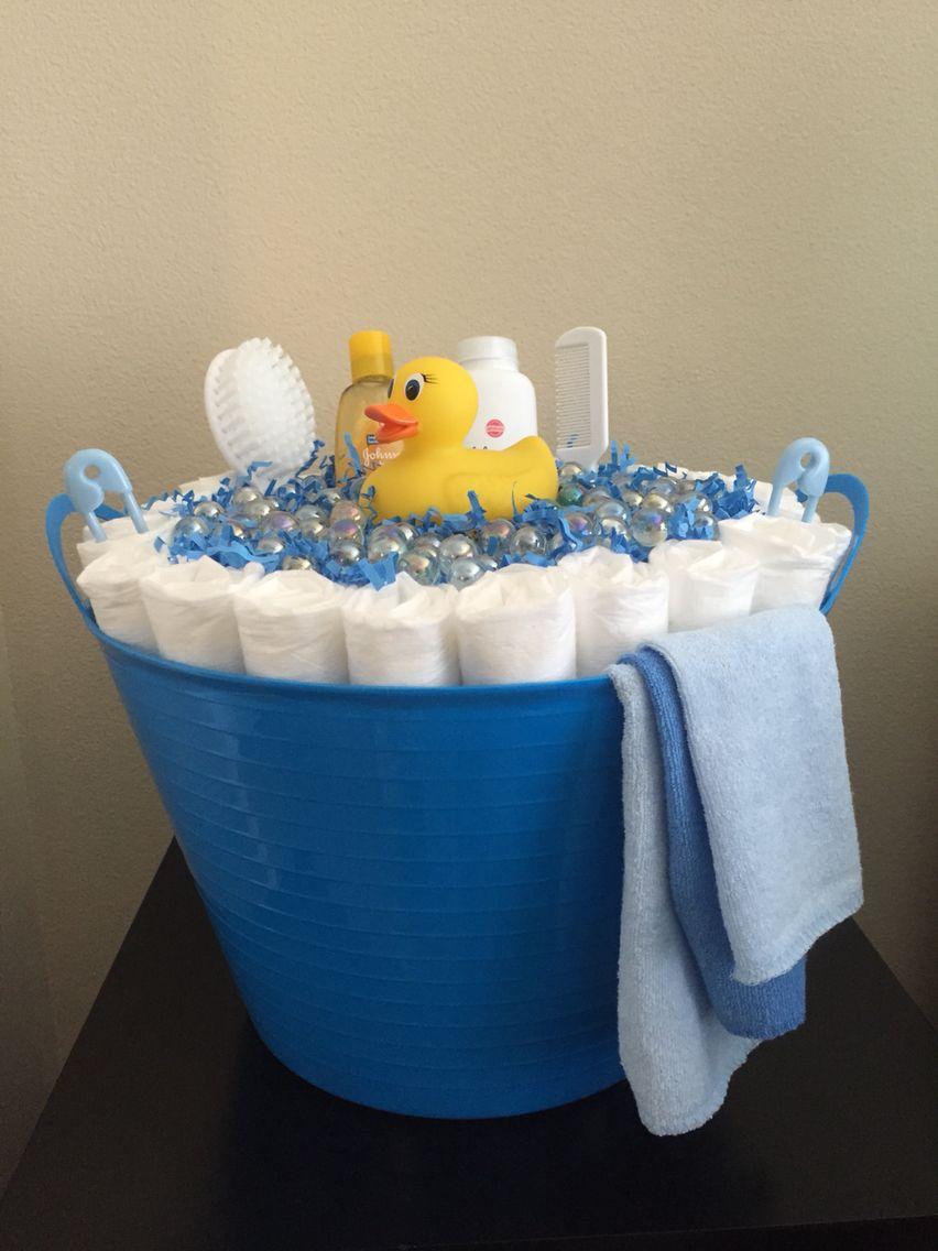 DIY Baby Boy Diaper Bubble Bath Tub   Baby Boy Baby Shower ...