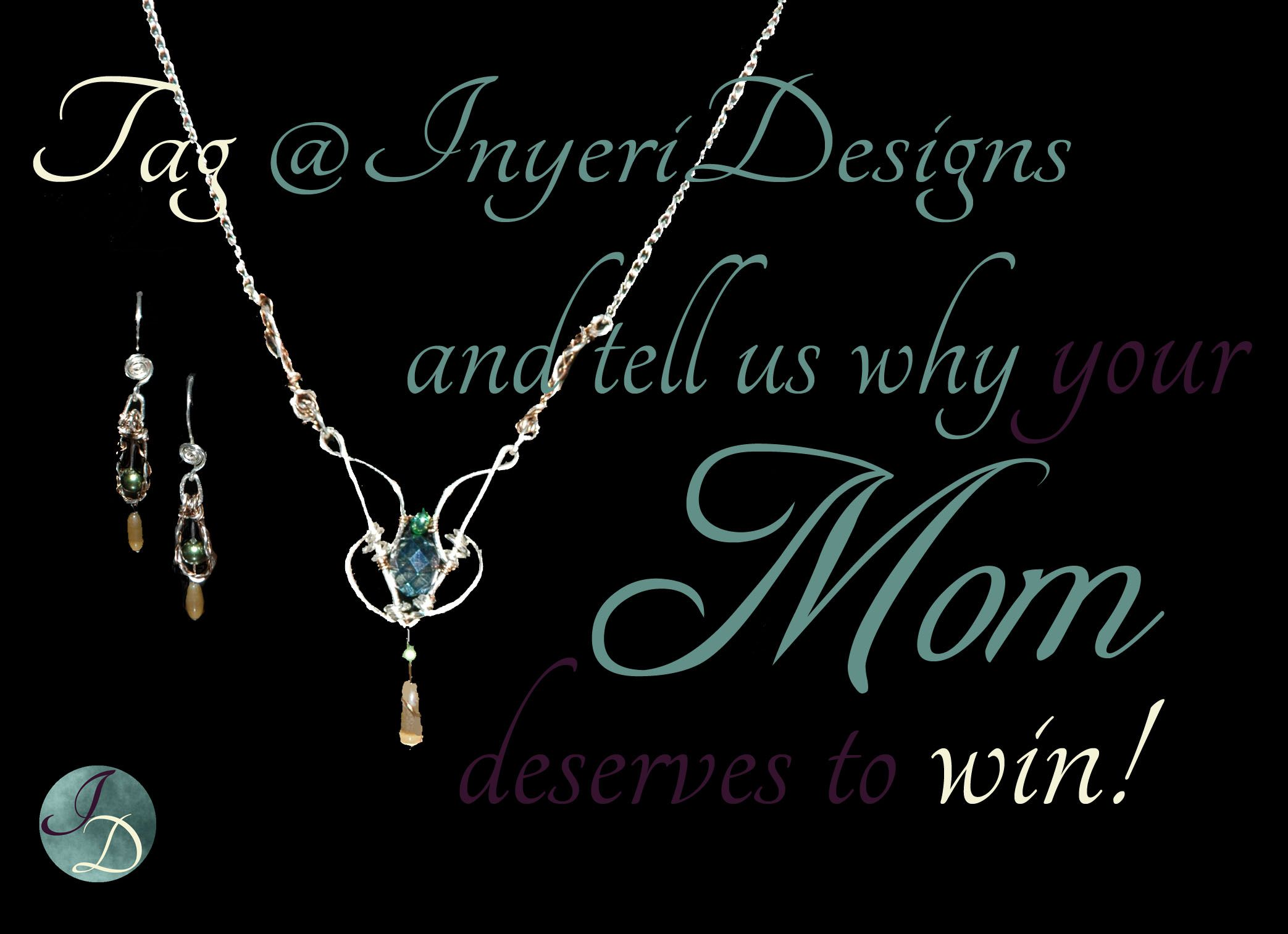 A beautiful motherus day gift set of necklace and earrings from