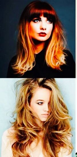 Love both of these hairstyles & color!