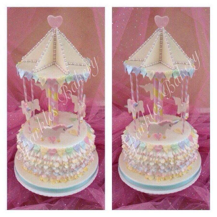 Unicorn+Carousel+-+Cake+by+Karen