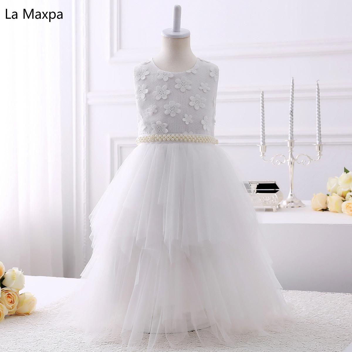 Children New Cute Flower Wedding Dresses Girls White Lace Birthday Party  Dance Paino Performance Tutu Dress. Yesterday s price  US  69.54 (60.47  EUR). 63bf08323