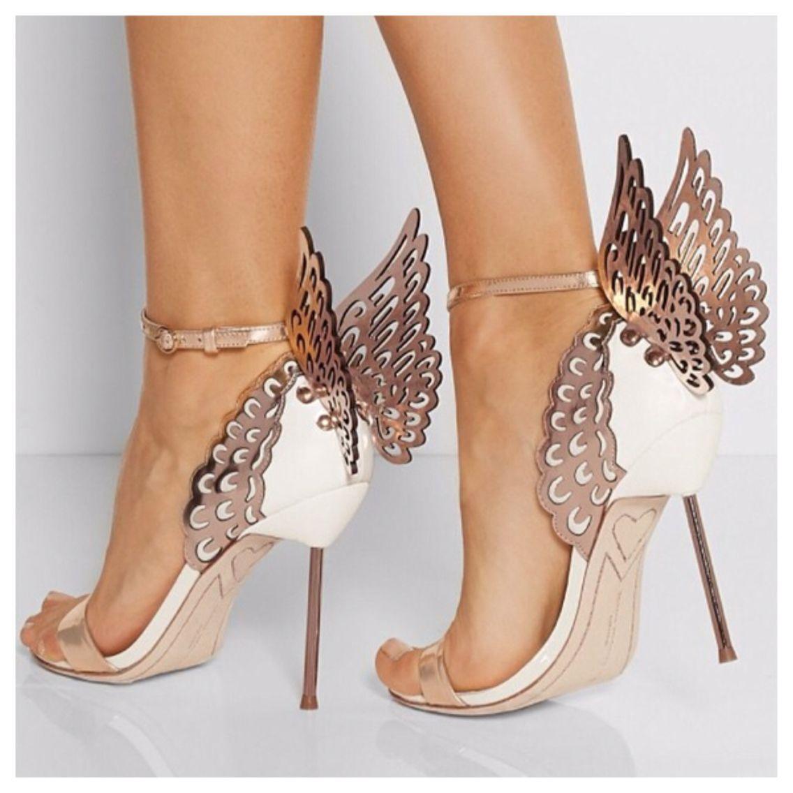 Sophia Webster rose gold butterfly