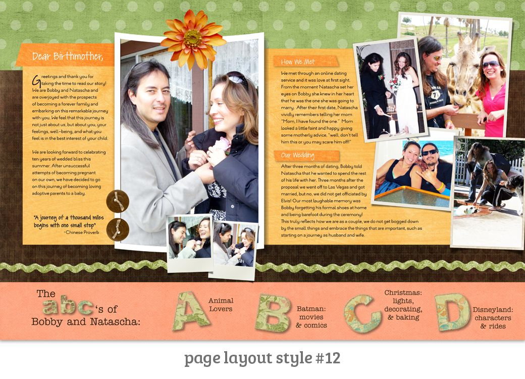Page Layout Style 12 This Welcome Spread Is Really Homey And