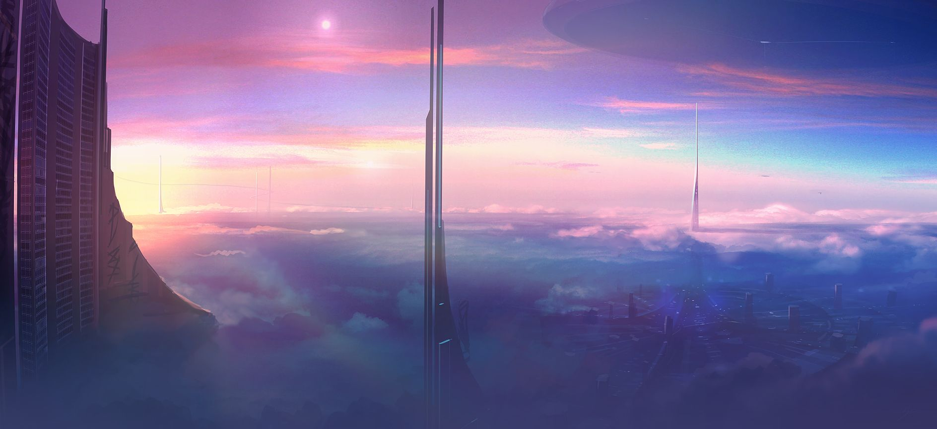 Speed Painting Above the Clouds by *ANTIFANREAL on