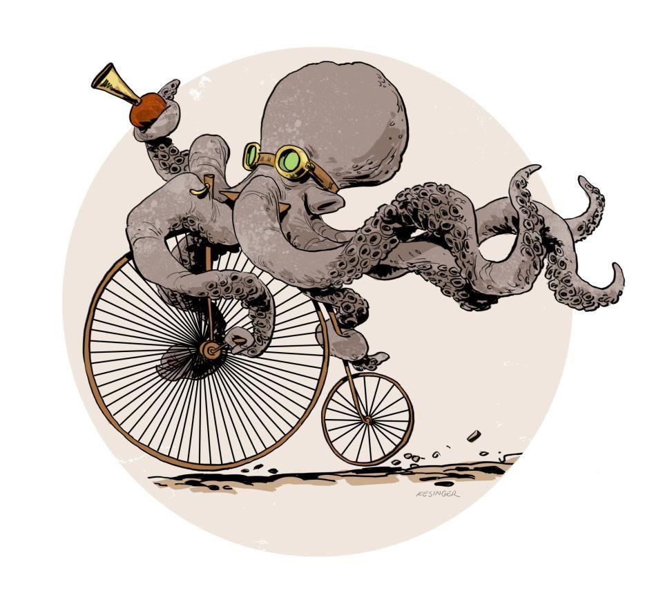 Brian Kesinger Steampunk octopus