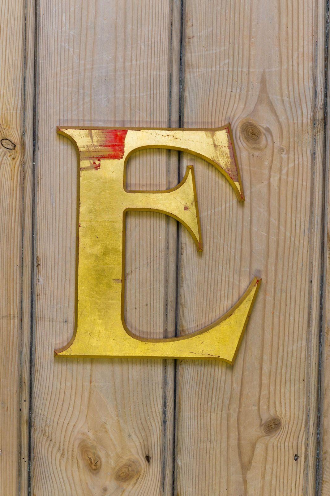 Vintage Letter E, Alphabet, E, Wall Art, Gold Resin Letter, Letter E ...