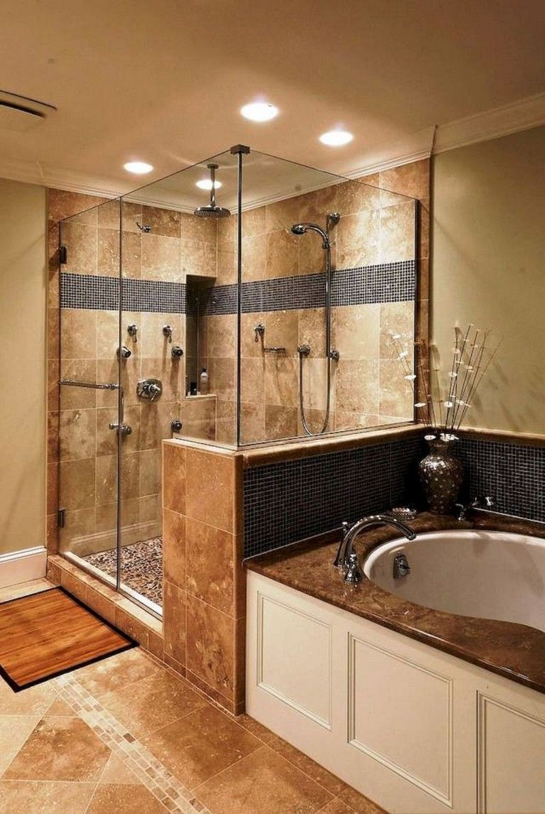 58 Beautiful Master Bathroom Remodel Ideas Rustic Master Bathroom Master Bathroom Design Shower Remodel