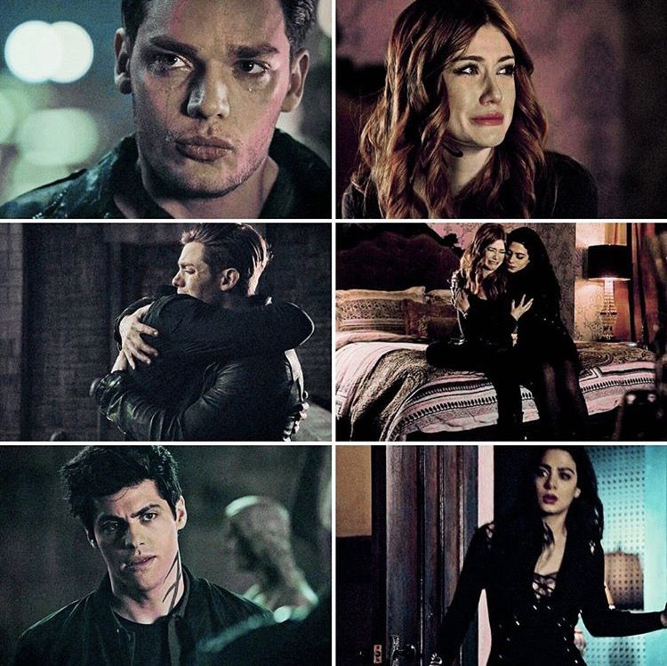 Shadowhunters Alec Isabelle Comforting Jace Clary Shadowhunters Shadow Hunters Shadowhunters Tv Show