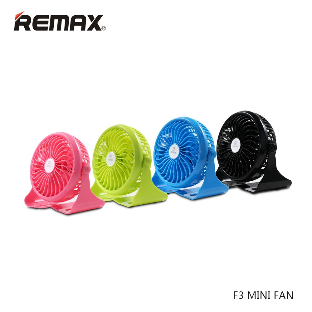 Original Remax F3 Portable USB Mini Fan 360 Degrees Rotating