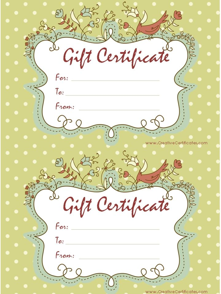 Fillable Gift Certificate Template Free Gift Ftempo – Cute Gift Certificate Template