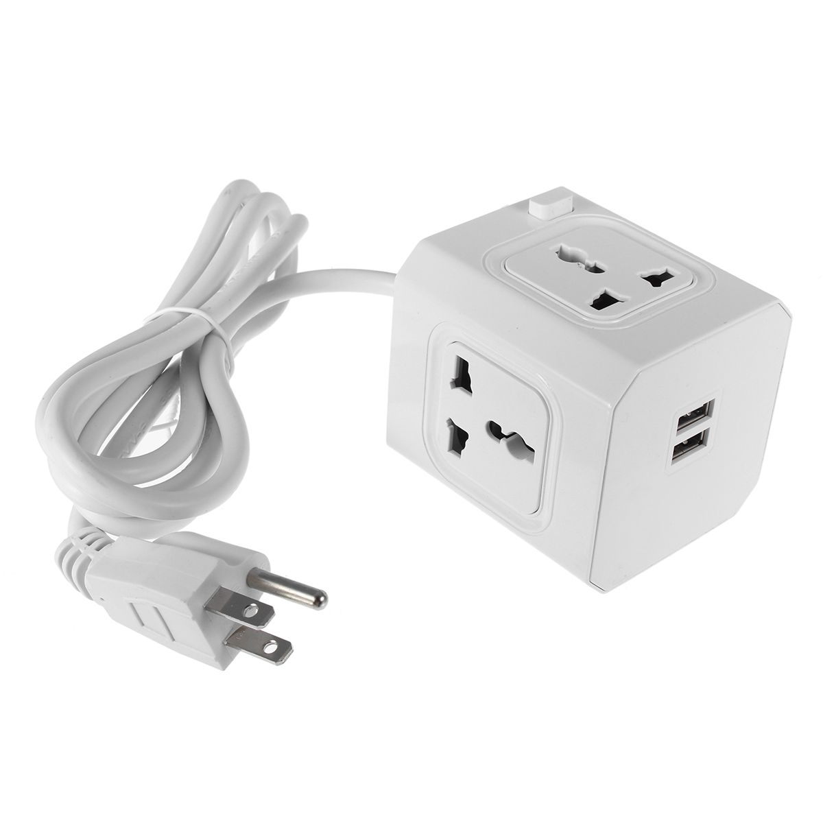 5v 2 1a Magic Powercube Wall Socket With 2 Usb Ports 4 Outlets Plug Extension Cable Cord Extension Cable Sockets Usb