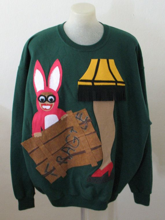 Funny Hillarious Ugly Christmas Sweater A Christmas Story Bunny ...