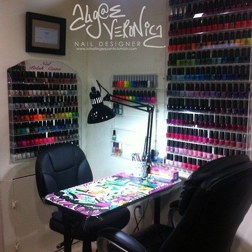 A Girl Can Dream The Beauty Thesis Home Nail Salon Nail Room Nail Salon Decor