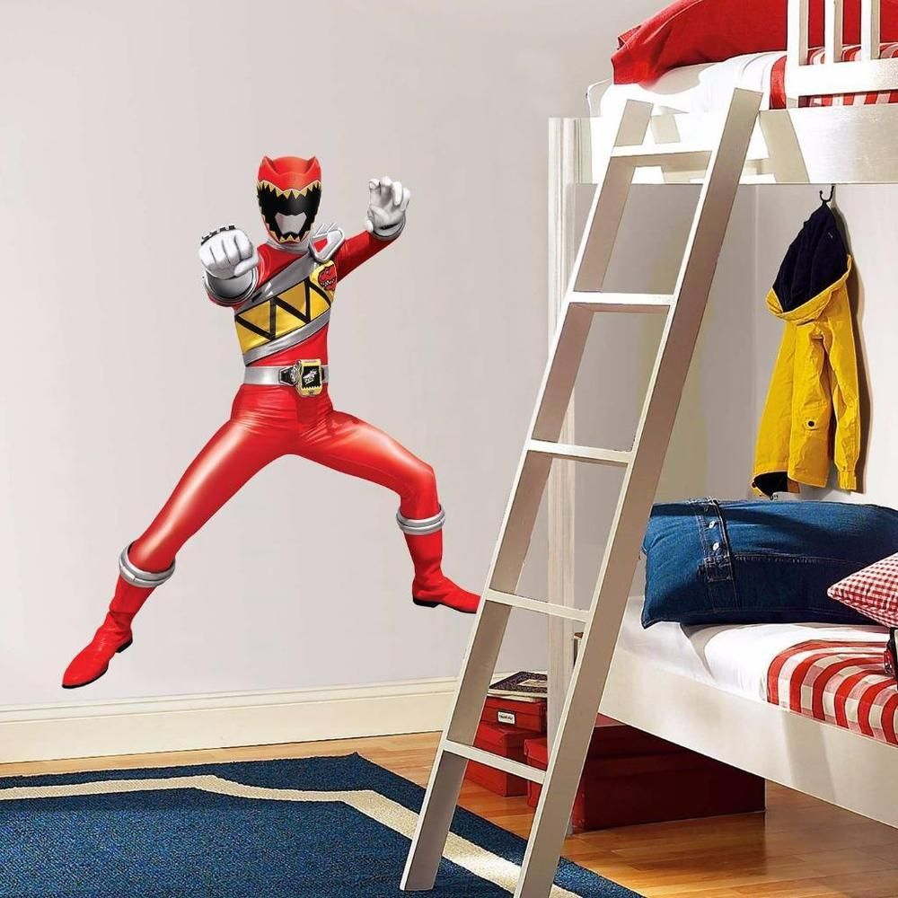 Superb Power Rangers Dino Charge Red Decal Removable Graphic Wall Sticker Decor Art Part 20