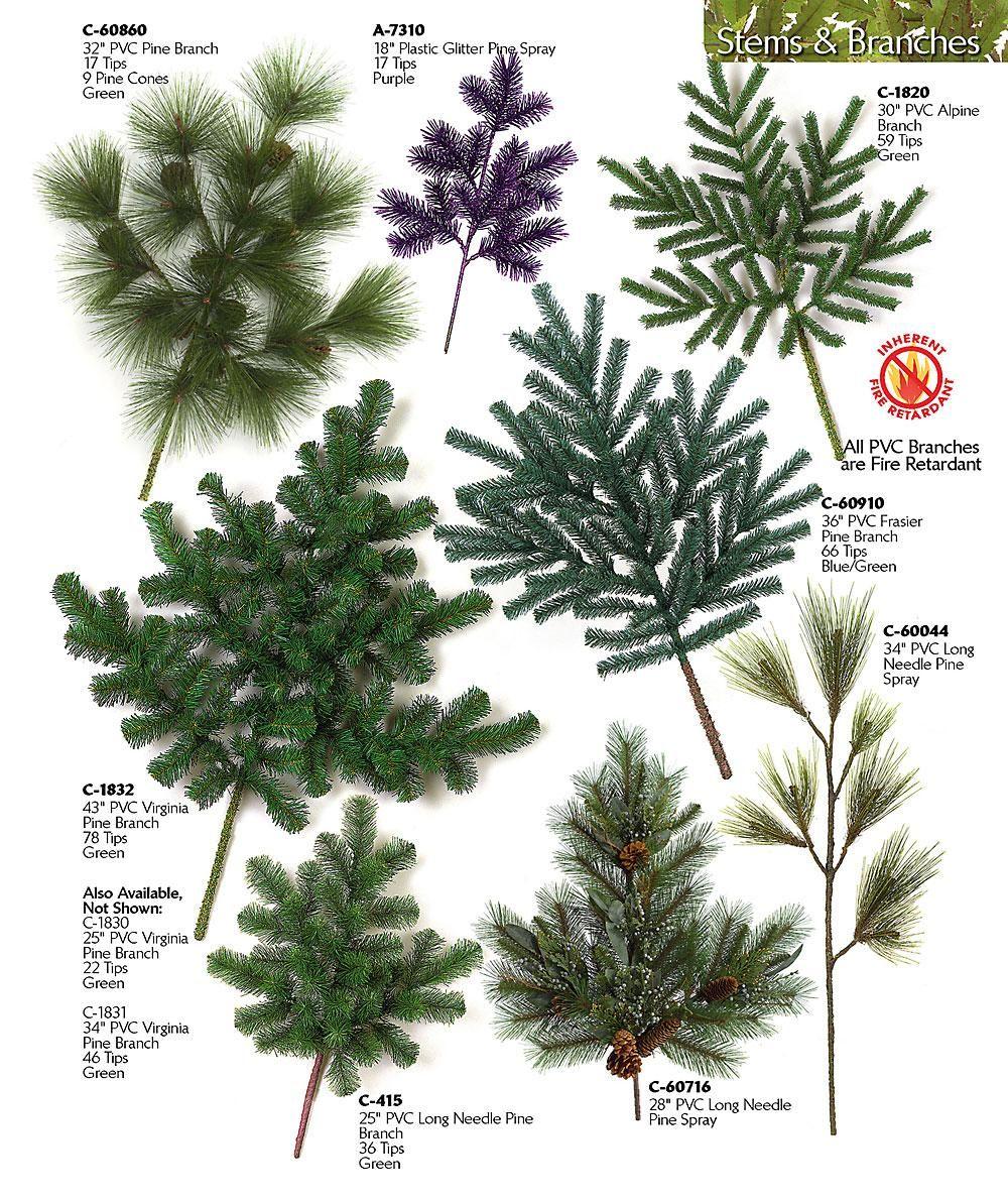 Types Of Fir Trees For Christmas: Pvc Pine Spray Plastic Arolla Spray
