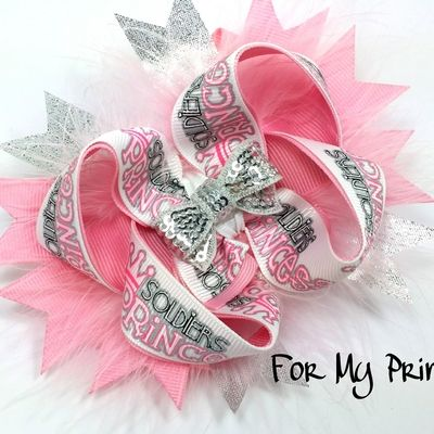 Solider's Princess boutique hairbow