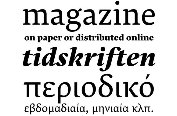 [New Font Release] Lava, a multilingual typeface for running text, originally designed for Works That...