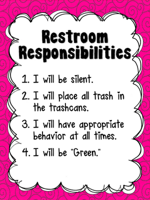 School Bathroom Rules responsibilities | homeschool | pinterest | classroom bathroom