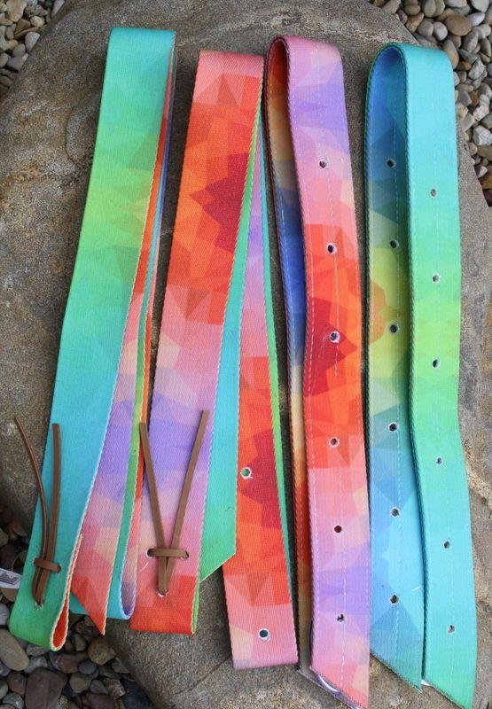 183c498a0488 New Tie Dye Nylon Western Saddle Latigo & Off Billet Set. Quality Horse Tack