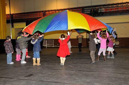 Niños jugando en una de nuestras actuciones en cumpelaños a domilcio