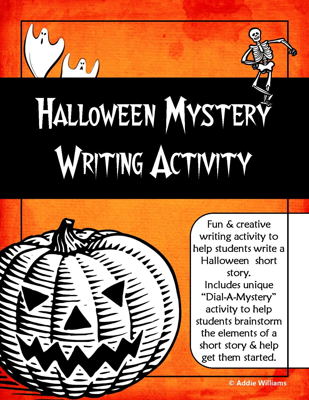 Halloween Mystery Writing Activity Unique And Fun Brainstorming Technique To Help Students Creative Writing Jobs Halloween Writing Activities Mystery Writing [ 1650 x 1275 Pixel ]