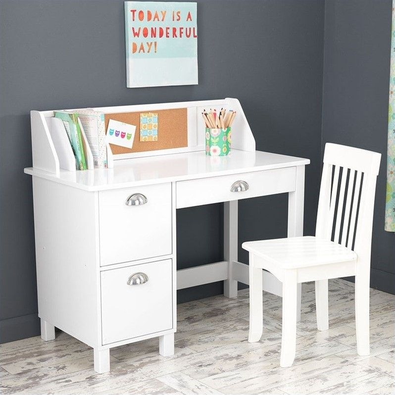 Lowest Price Online On All Kidkraft Writing Desk And Chair In White 26704 Kids Study Desk White Study Desk Desk With Drawers