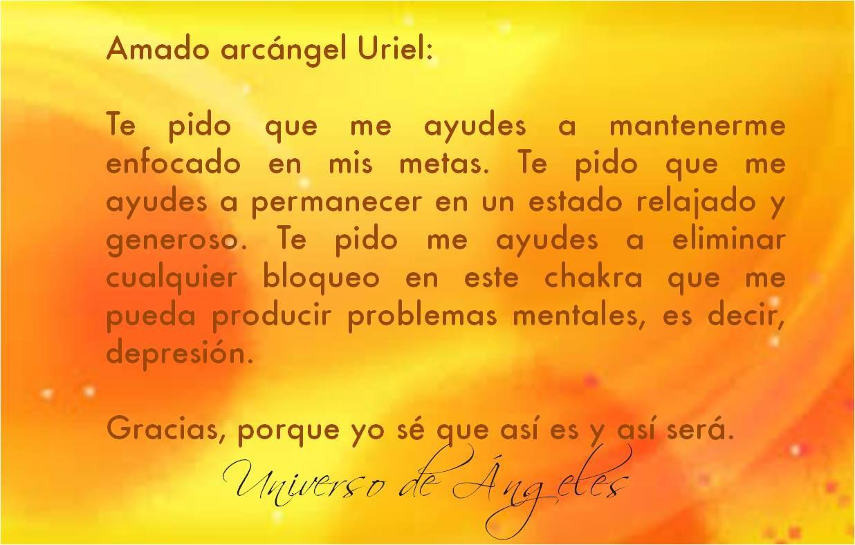 #UniversoDeAngeles Oración al arcángel Uriel para mantenerse enfocado en las metas.