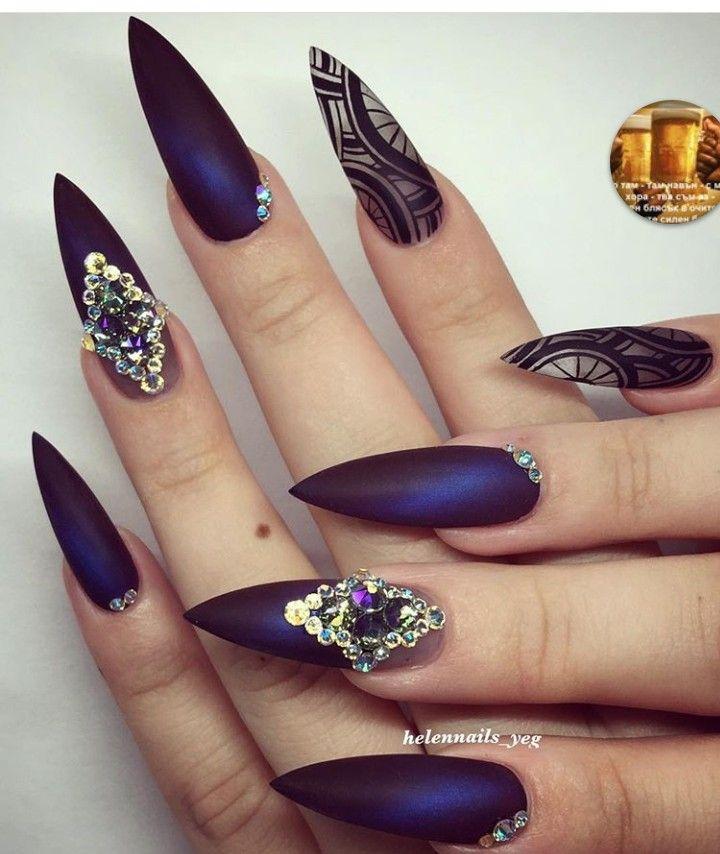 Pin by Ioanna Nenova on Nails   Pinterest   Crystal nails and Art nails